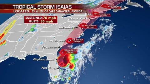 WATCH: Tracking Hurricane Isaias