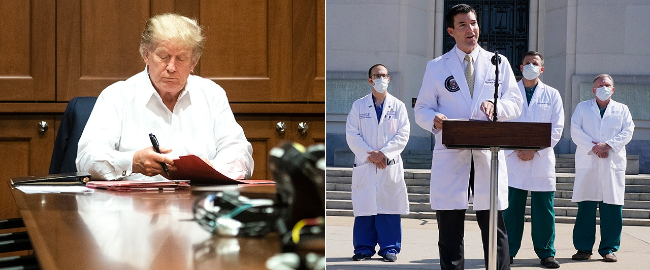 Trump could return to WH 'as early as tomorrow' if conditions continue to improve, medical team says