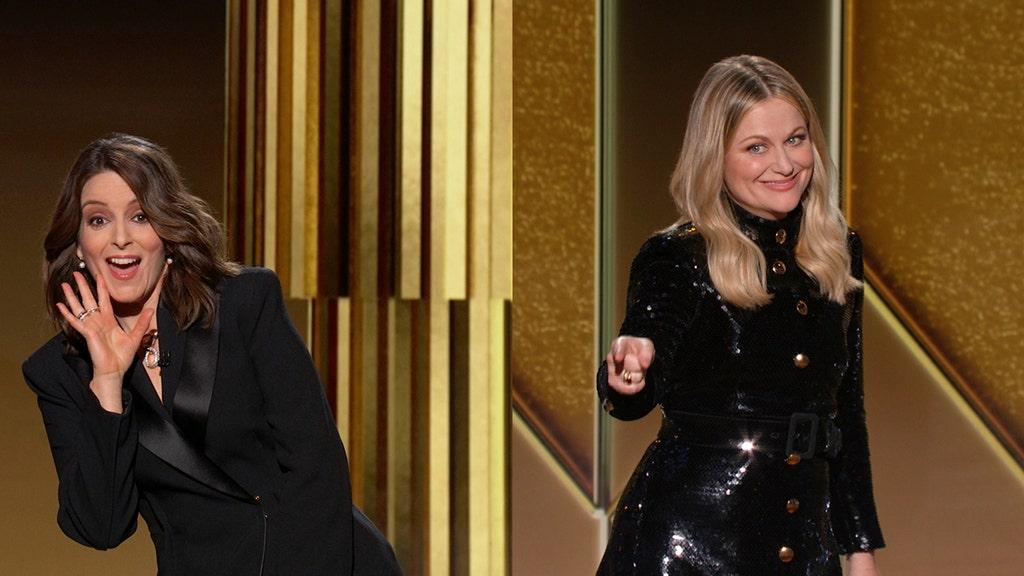 Golden Globe Awards co-hosts Tina Fey, Amy Poehler mum on politics, slam HFPA in opening monologue