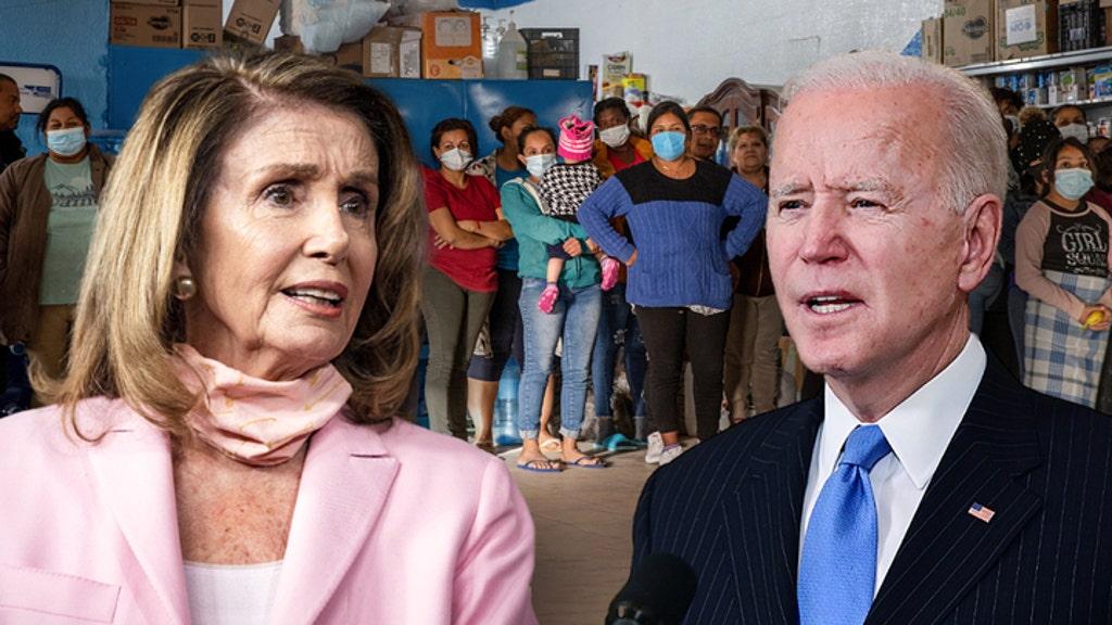 Biden backs Pelosi's support for illegal immigrants, as border crisis worsens