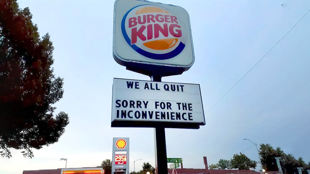 Burger King display goes viral as employees walk out