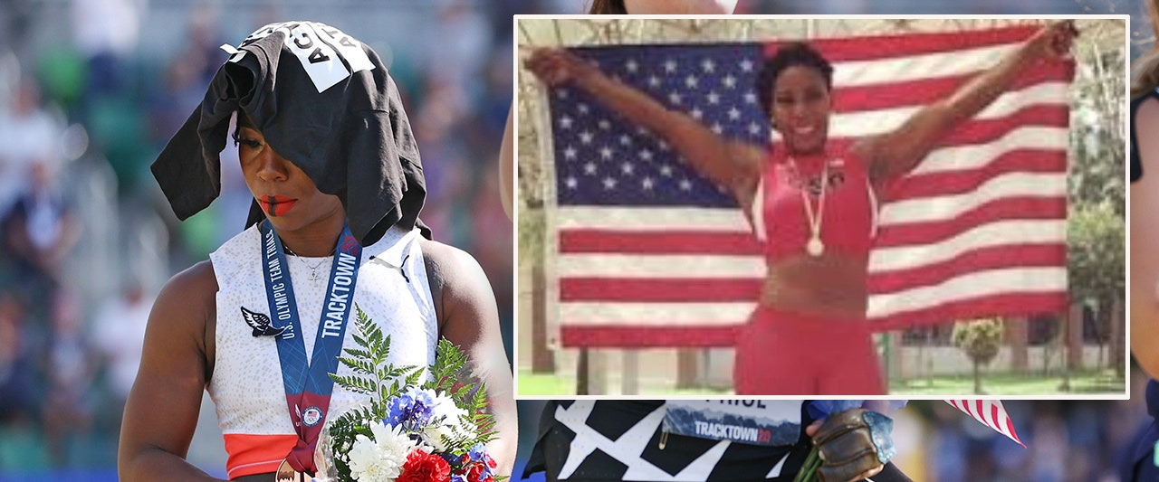 Flag-snubbing Olympian's 'activist' image in question after 2016 picture with Old Glory emerges
