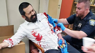 Rabbi stabbed multiple times outside synagogue, suspect in custody