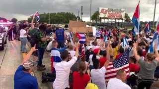 'Where is Biden?' chant breaks out at Florida protest in support of Cuba