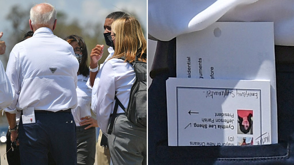 Critics blast Biden for relying on 'cheat sheet' while surveying Ida devastation