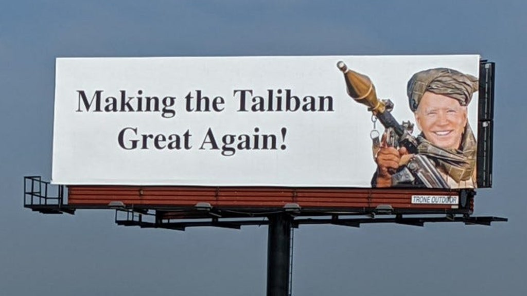 Man behind billboards of Biden 'Making the Taliban Great Again' revealed, speaks