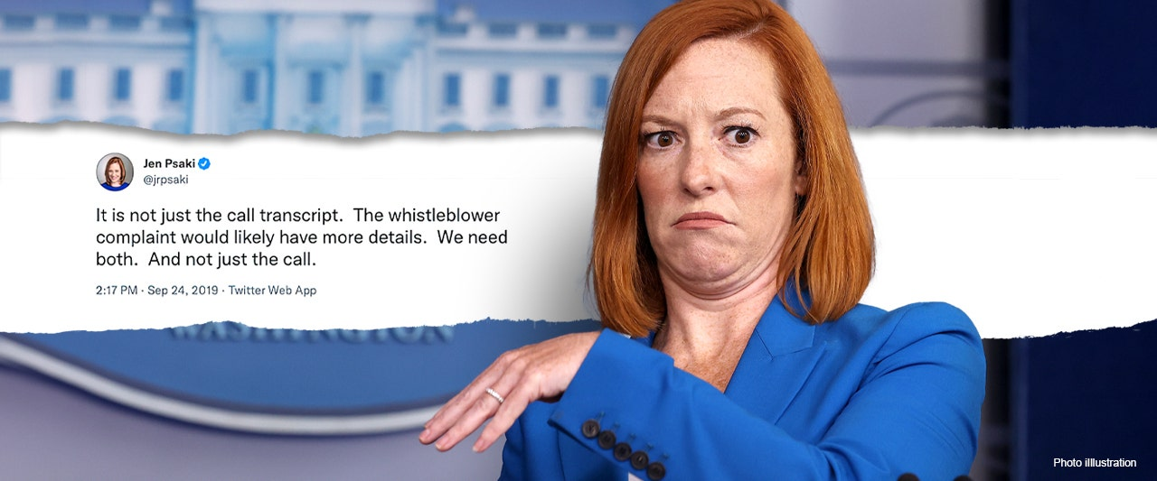 White House won't discuss leak of damaging Biden call, but Psaki was all about 'transparency' for Trump