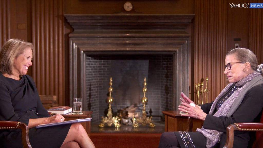 Katie Couric admits she 'protected' RBG by editing out comments from interview