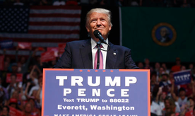 Republican presidential candidate Donald Trump speaks during a campaign rally at Xfinity Arena at Everett, Tuesday, Aug. 30, 2016, in Everett, Wash. (AP Photo/Evan Vucci)
