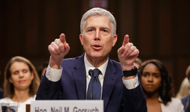Supreme Court nominee Justice Neil Gorsuch testifies on Capitol Hill in Washington, Wednesday, March 22, 2017, at his confirmation hearing before the Senate Judiciary Committee.  (AP Photo/J. Scott Applewhite)