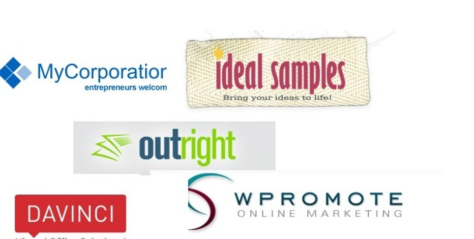 Meet the #mysbc winners this week: MyCorporation, Ideal Samples, OutRight, Wpromote and Davinci Virtual.