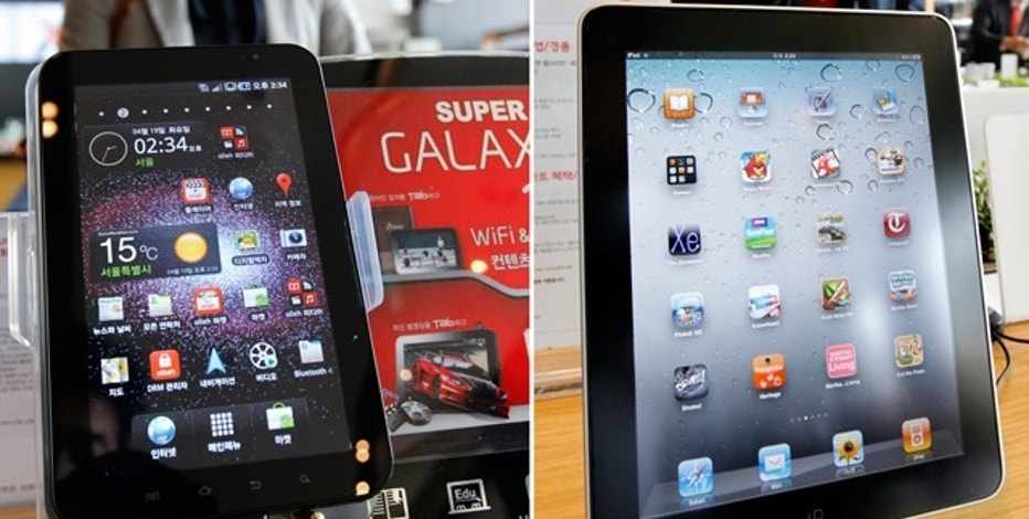 Samsung Galaxy Tab Tablet and Apple iPad