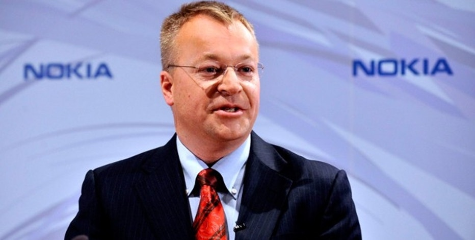 Nokia's new Chief Executive Stephen Elop speaks during a news conference in Espoo, Finland, September 10, 2010. (Reuters)