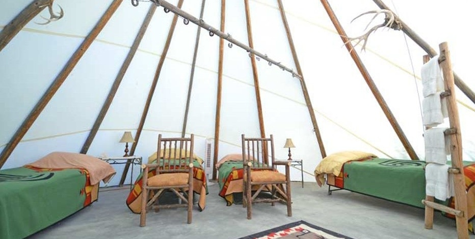 A luxury teepee at the Cherrywood Bed Breakfast and Barn.