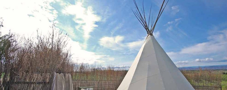 A teepee at on Cherrywood's grounds.