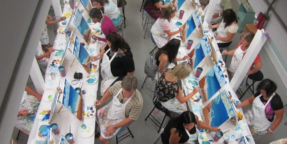 Painting With a Twist is an art studio that hosts parties and classes for the creative crowd.