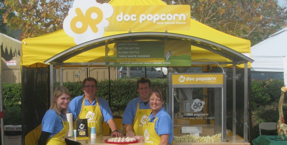 DocPopcorn makes and sells all-natural healthy popcorn snacks.