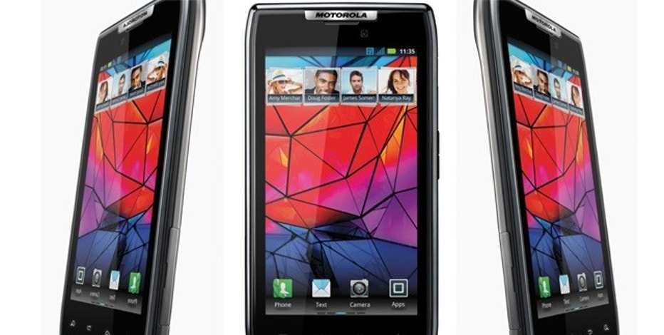 The Motorola Droid Razr, a Google Android powered gadget that the company claims is the world's thinnest smartphone.
