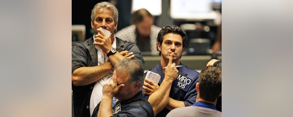 May 6: Traders react in the S&P 500 futures pit at the CME Group in Chicago near the close of markets.