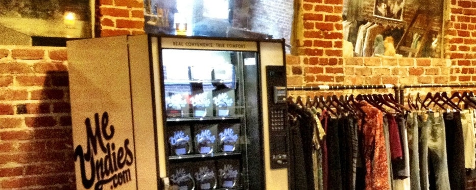 E-commerce company MeUndies has installed an underwear vending machine at a popular men's boutique in Los Angeles.  |  Photo: MeUndies