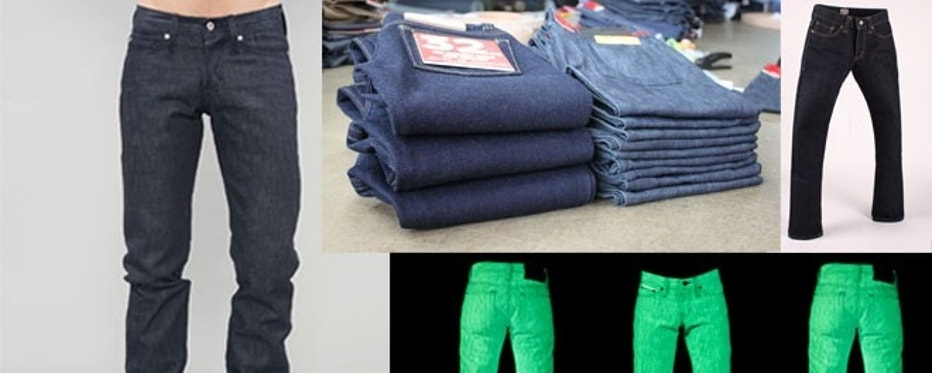 Naked & Famous has created a number of unique jeans, including ones that smell like raspberries, ones that glow in the dark and ones that weigh three times as much as a normal pair of jeans.