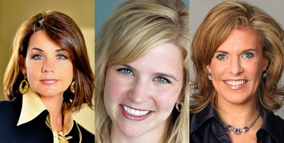 Sherry Stewart Deutschmann, Amy Buckner Chowdry and Lisa Bair, all past winners of Ernst & Young's Entrepreneurial Winning Women competition.