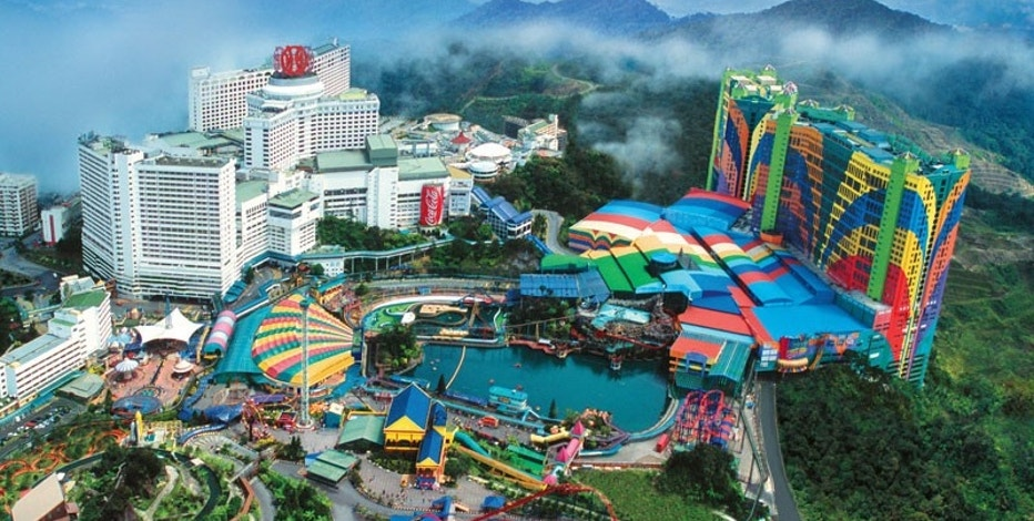 The First World Hotel in Malaysia boasts a 500,000-square foot entertainment complex with an indoor tropical rainforest and an amusement park.