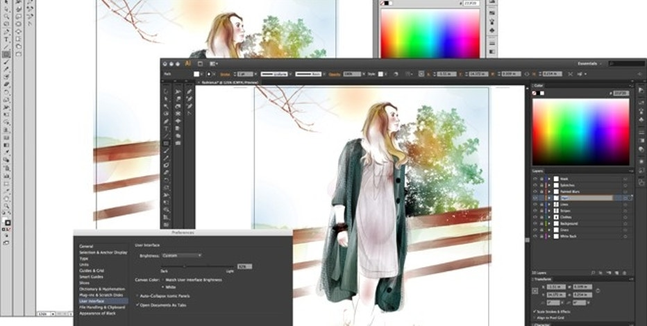 A screenshot shows Adobe Illustrator CS6, one part of the new version of Adobe's Creative Suite that sells for as much as $2,600.