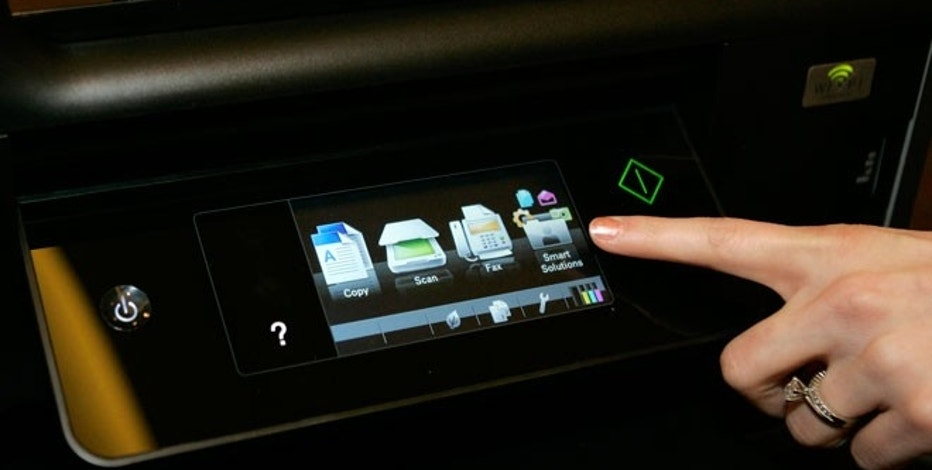 A touch screen menu is displayed on a Lexmark Platinum Pro905 printer.