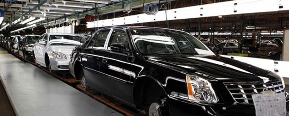 July 30: The Cadillac assembly line is seen at a General Motors Auto Plant in Hamtramck, Michigan, near Detroit.