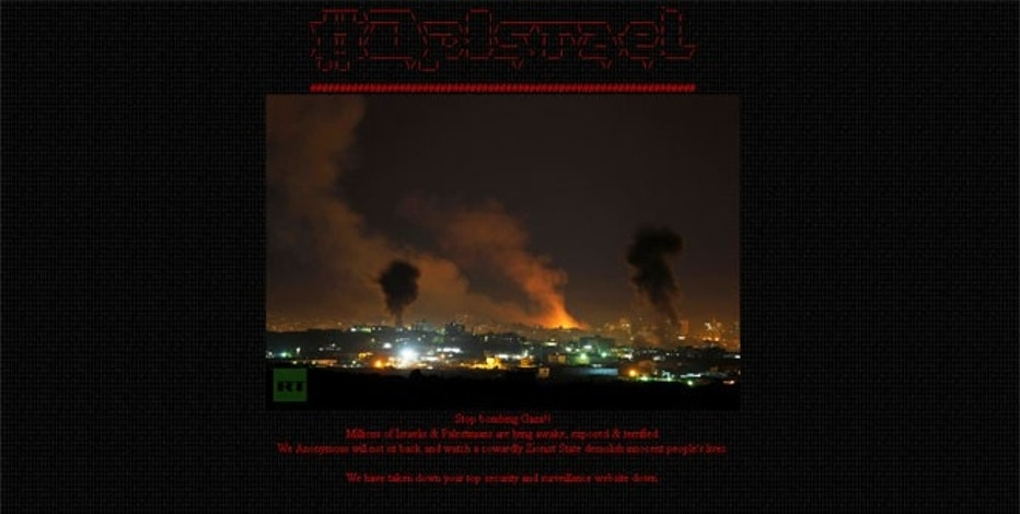 "As part of a new operation against Israel, hackers at Anonymous took over what the hacker group called Israel's ""top security and surveillance website."""