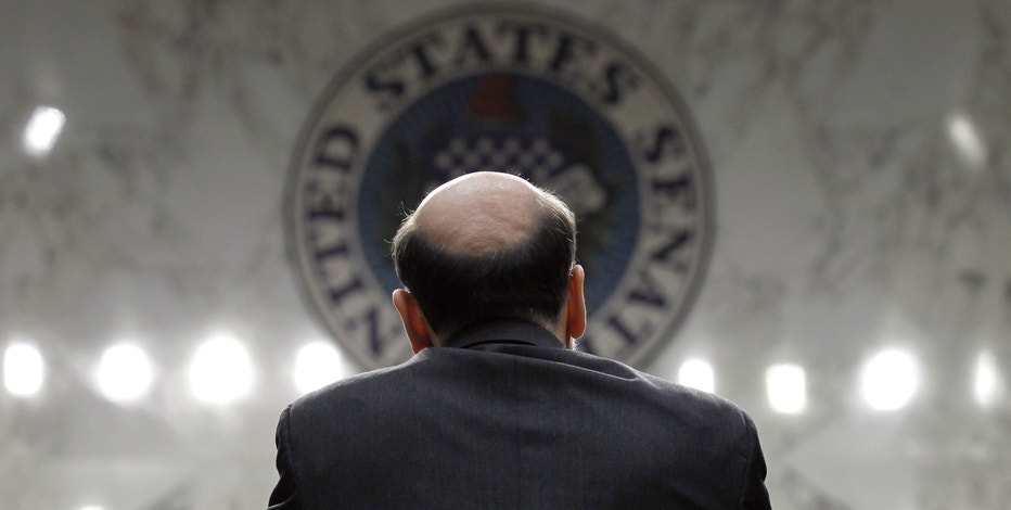 Federal Reserve Chairman Ben Bernanke gives the Semiannual Monetary Policy Report to Congress while testifying before the Senate Banking Committee on Capitol Hill in Washington, Tuesday, March 1, 2011. (AP Photo/Alex Brandon)