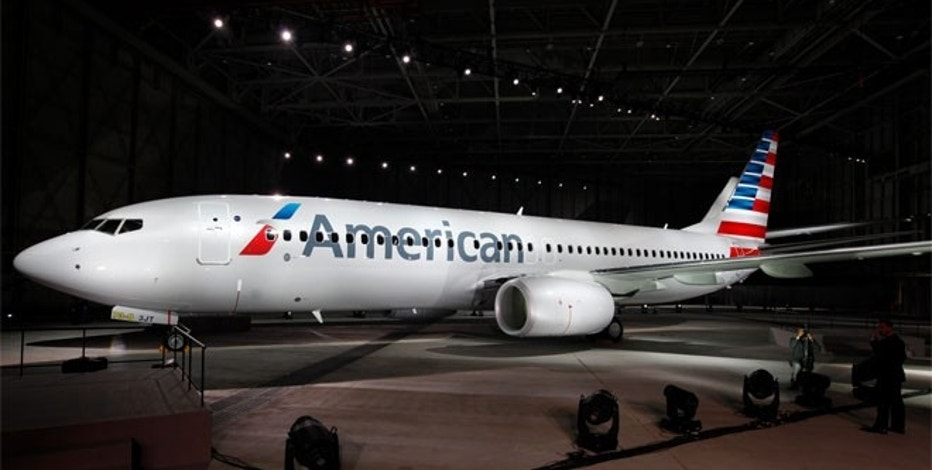 "Unveiled in January 2013, this is American Airlines' fifth and newest logo. It is expected to represent the ""new American"" as it readies to emerge from bankruptcy."