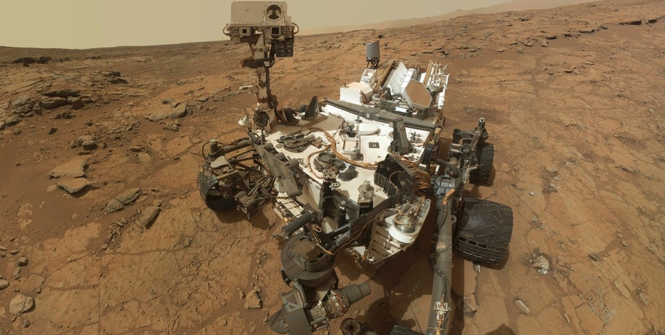 "Self-portrait of the rover Curiosity, combining dozens of exposures taken by the rover's Mars Hand Lens Imager (MAHLI) during the 177th Martian day, or sol, is seen in this February 3, 2013 handout image courtesy of NASA. The rover is positioned at a patch of flat outcrop called ""John Klein,"" which was selected as the site for the first rock-drilling activities by Curiosity. The rover's robotic arm is not visible in the mosaic. REUTERS/NASA/JPL-Caltech/MSSS/Handout (MARS - Tags: ENVIRONMENT SCIENCE TECHNOLOGY TPX IMAGES OF THE DAY) FOR EDITORIAL USE ONLY. NOT FOR SALE FOR MARKETING OR ADVERTISING CAMPAIGNS. THIS IMAGE HAS BEEN SUPPLIED BY A THIRD PARTY AND WAS PROCESSED BY REUTERS TO ENHANCE QUALITY. AN UNPROCESSED VERSION WAS PROVIDED SEPARATELY - RTR3DOV2"