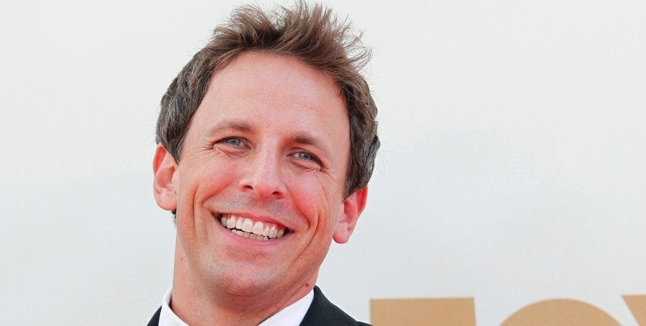 "Actor Seth Meyers from ""Saturday Night Live"" arrives at the 63rd Primetime Emmy Awards in Los Angeles September 18, 2011.  REUTERS/Danny Moloshok (UNITED STATES  - Tags: ENTERTAINMENT)  (EMMYS-ARRIVALS) - RTR2RIQL"