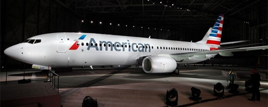 """Unveiled in January 2013, this is American Airlines' fifth and newest logo. It is expected to represent the """"new American"""" as it readies to emerge from bankruptcy."""