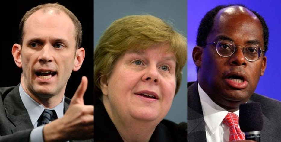 Former chairs of the Council of Economic Advisers Austan Goolsbee (left) and Christina Romer (middle) along with TIAA-CREF CEO Roger Ferguson (right) are all believed to be candidates to replace Ben Bernanke. (REUTERS)