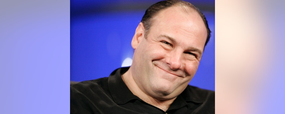 """Actor James Gandolfini smiles during a panel discussion for the television show """"The Sopranos"""" at the """"Television Critics Association"""" media tour in Pasadena, California January 13, 2006. The HBO television show enters its sixth and final season on March 12. REUTERS/Mario Anzuoni - RTR185JD"""