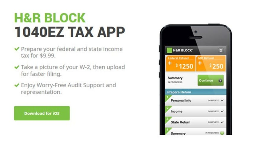 H&R Block's 1040EX Tax App