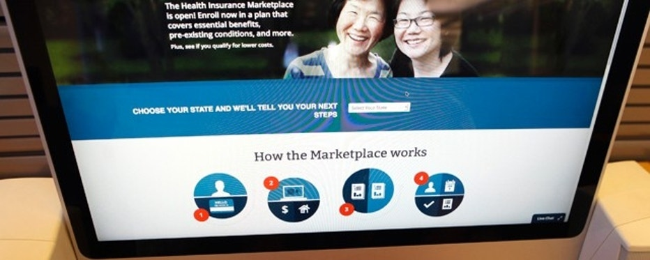 Oct. 2, 2013: The Affordable Care Act  signup page on the HealthCare.gov website.