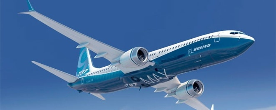 Pictured here is an artist's rendering of a 737 MAX 9.