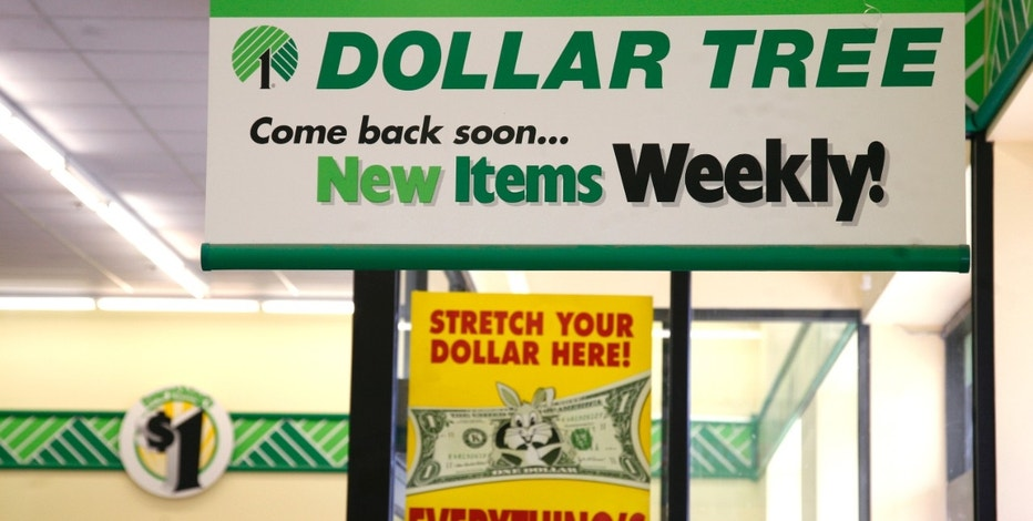 Sign are seen in a Dollar Tree store in Arvada, Colorado February 25, 2009. Dollar Tree Inc reported a better-than-expected 11 percent rise in quarterly profit on Wednesday and said it gained market share as customers seek out its rock-bottom prices amid the recession. The retailer, which sells most of its merchandise for $1, said it will open 210 new namesake stores this year and will add more freezers and coolers inside its locations as frugal shoppers focus on buying necessities like food.   REUTERS/Rick Wilking (UNITED STATES)