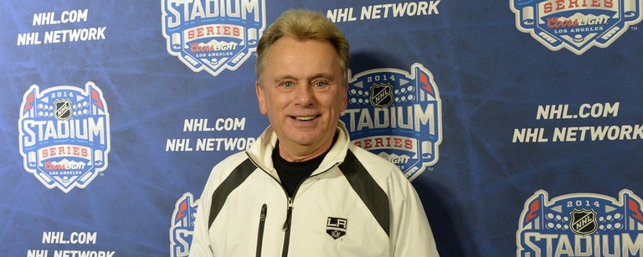 Jan 25, 2014; Los Angeles, CA, USA;   Pat Sajak arrives on the red carpet for the Stadium Series hockey game between the Anaheim Ducks and the Los Angeles Kings at Dodger Stadium. Mandatory Credit: Jayne Kamin-Oncea-USA TODAY Sports - RTX17UL0