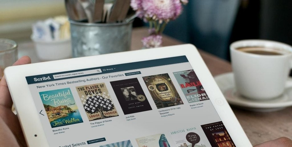 This product image provided by Scribd shows the Scribd e-book app. Scribd and Oyster let you read as many books as you want for a monthly price _ $9 for Scribd and $10 for Oyster. (AP Photo/Scribd)