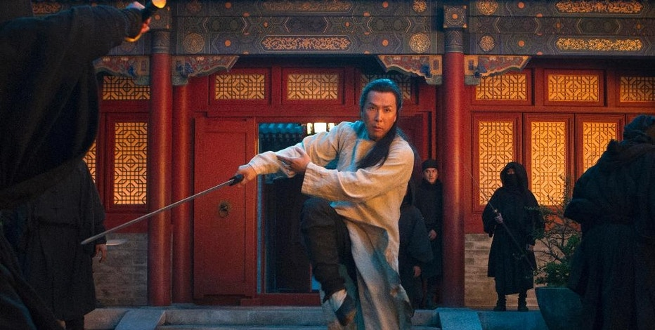 "In this image released by Netflix, Donnie Yen appears in a scene from""Crouching Tiger, Hidden Dragon: The Green Legend,"" which will premiere on Netflix and in selected global IMAX theaters on Aug. 28, 2015. (AP Photo/Netflix, Rico Torres)"