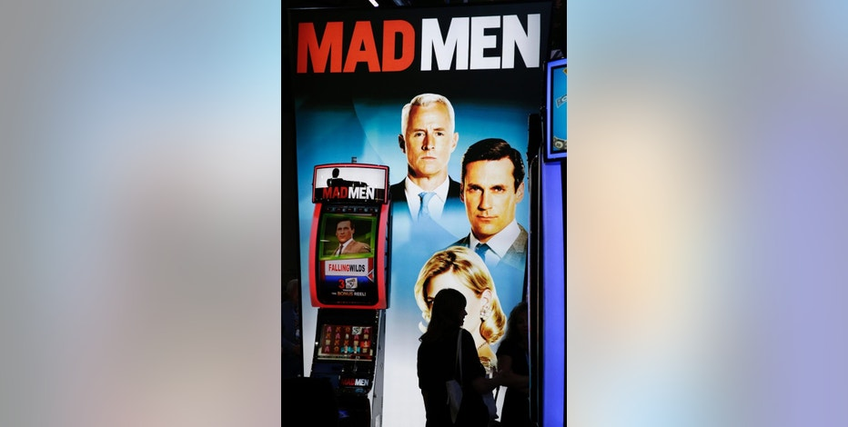 A Mad Men machine is on display at the WMS Gaming booth during the Global Gaming Expo, Wednesday, Oct. 1, 2014, in Las Vegas. (AP Photo/John Locher)