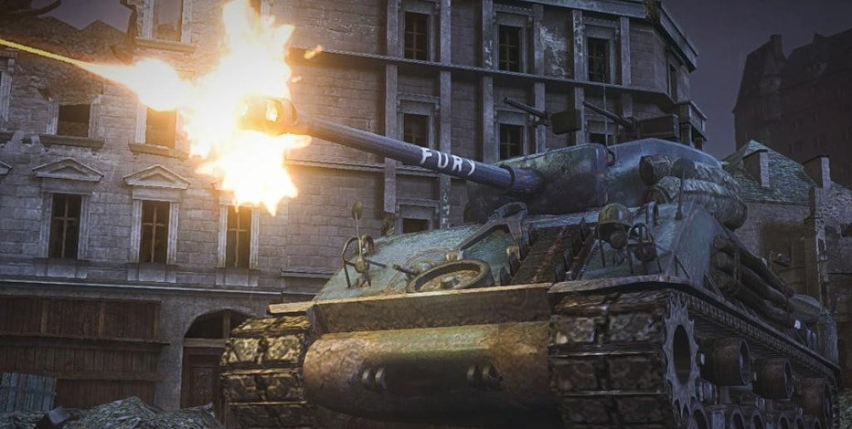 "This image provided by Wargaming shows a M4A3E8 Sherman tank that appears in the video game ""World of Tanks."" In the latest example of a likeminded movie and game aligning to hype each other, the tank is virtual rendition of the one that appears in the Brad Pitt drama ""Fury.""  (AP Photo/Courtesy Wargaming)"