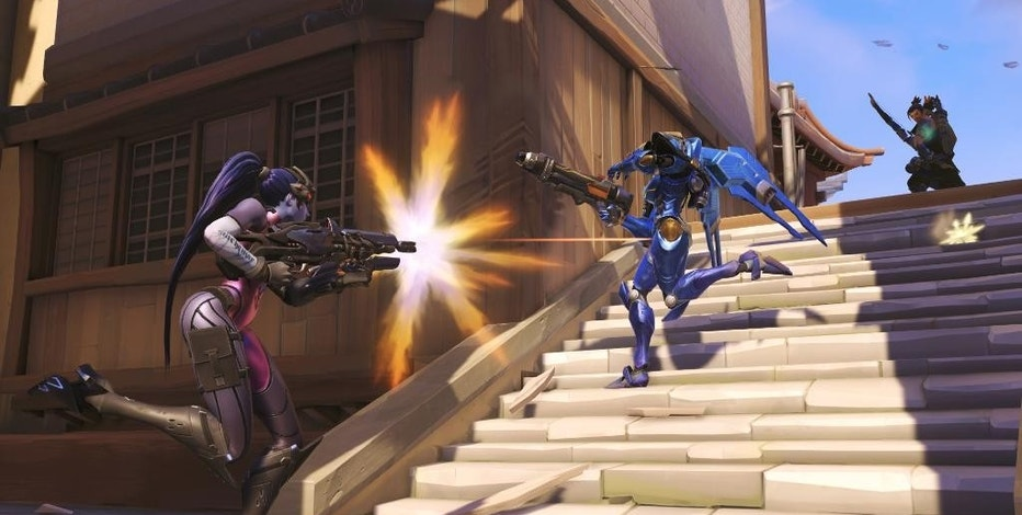 "This photo provided by Blizzard shows a scene from the video game, ""Overwatch."" (AP Photo/Blizzard)"