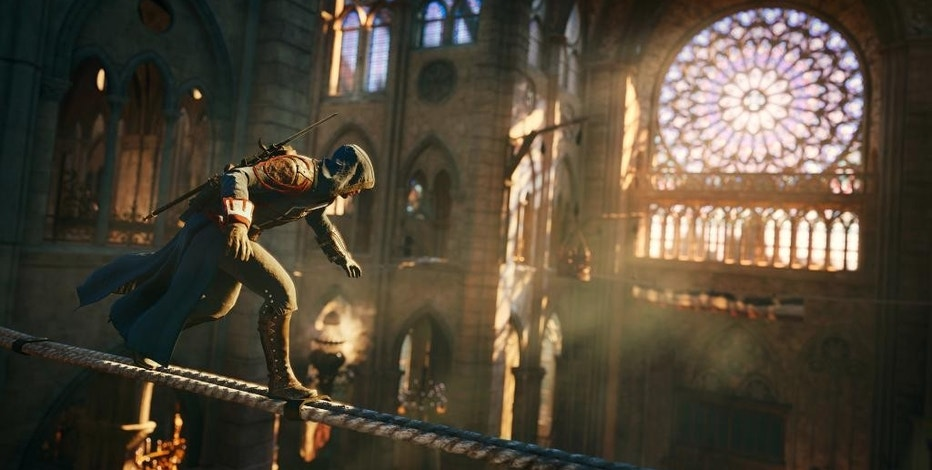 "This photo provided by Ubisoft shows a scene from the video game, ""Assassin's Creed: Unity."" (AP Photo/Ubisoft)"