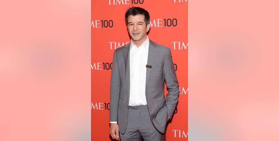 FILE - In this April 29, 2014 file photo, Uber CEO Travis Kalanick arrives at the 2014 TIME 100 Gala in New York.  In the midst of a controversy involving a top executive who reportedly suggested paying $1 million to dig up dirt on a journalist critical of the company, Kalanick on Wednesday, Nov. 19, 2014 gave a speech to current and potential investors at a Goldman Sachs technology conference in Las Vegas. (Photo by Evan Agostini/Invision/AP, File)